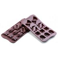 Stampi in silicone cioccolatini Choc Fashion Silikomart