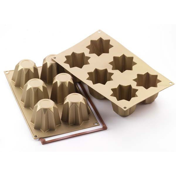 moule pour le four silicone muffin mini pandoro silikomart. Black Bedroom Furniture Sets. Home Design Ideas