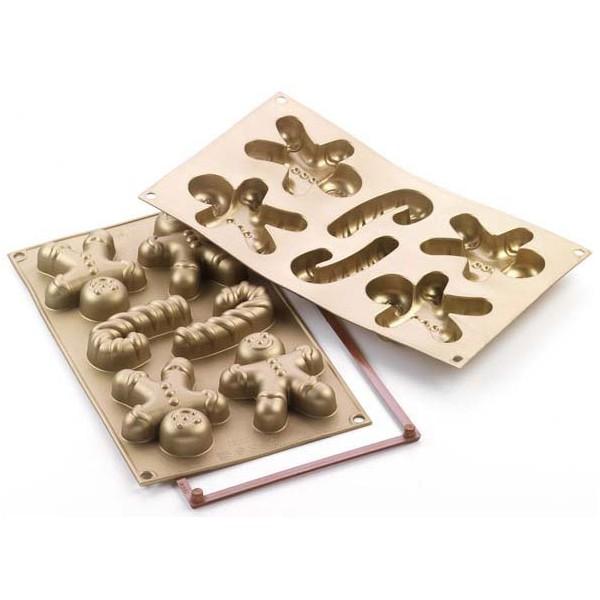 Stampo forno in silicone Gingerbread man piccoloSilikomart