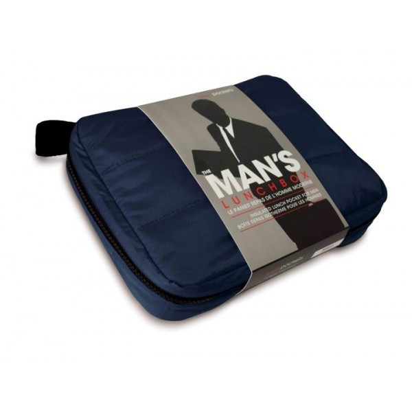 Navy blue insulated lunch bag freshpockets