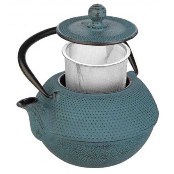 Teapot cast iron blue