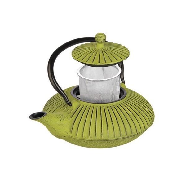 Teapot cast iron green 0,78l