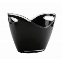 Black wine bucket (2 handles)