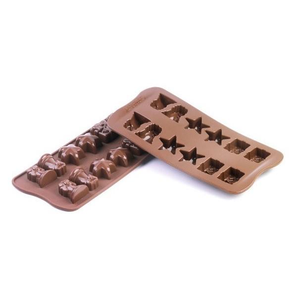 Chocolates silicone molds Christmas Silikomart
