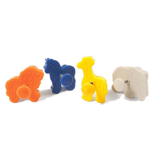 Set of 4 Animals mini cookie cutter Silikomart