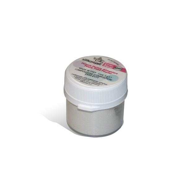 Colorante en polvo perlado plateado 5 gr Silikomart