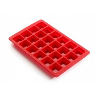 Red Lékué mini brownie mould silicone