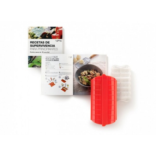 Steam case + book kit survival recipes for beginners Lékué
