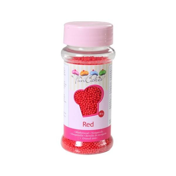 Sprinkles mini bolitas rojas 80gr