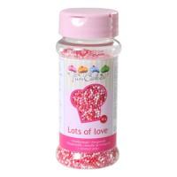 Sprinkles mini palline rosso, rosa e bianco 80gr