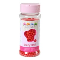 Sprinkles red shiny pearls 80gr