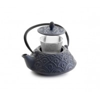 Teapot cast iron Malasia purple 0,80l