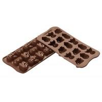 Stampi in silicone cioccolatini Choco Winter Silikomart