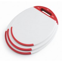Oval polyethylene cutting board (33x27x1 cm)