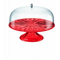 Red cake stand and cake holder Aqua Guzzini