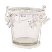"Vaso cristal detalles copo de nieve ""Tea light"""