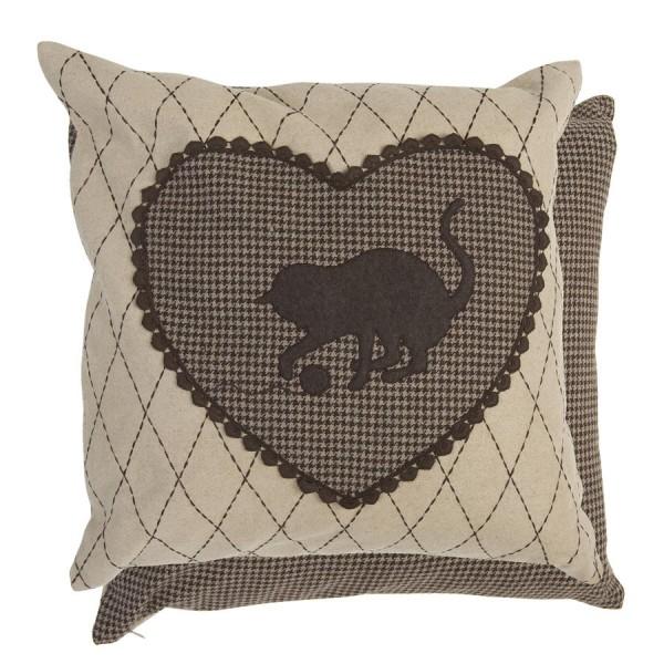 housse de coussin 50x50 cm brun chlo sweet home. Black Bedroom Furniture Sets. Home Design Ideas