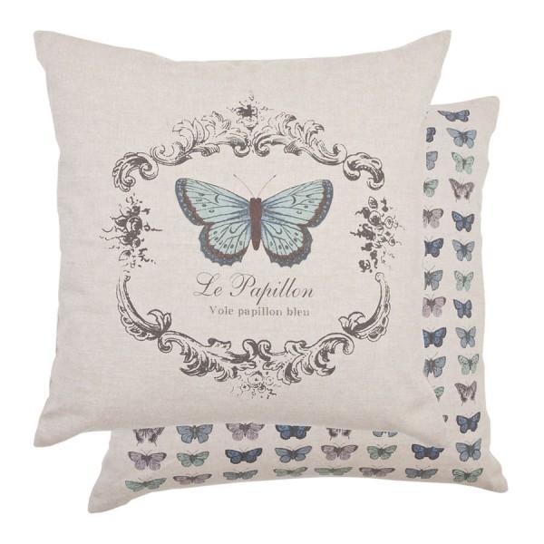 housse de coussin 50x50 cm bleu chlo sweet home. Black Bedroom Furniture Sets. Home Design Ideas