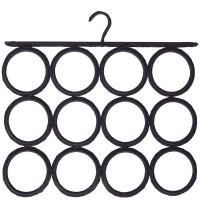 Colgador corbatas/Pañuelos negro 12 circulos