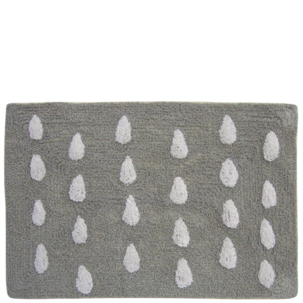 Alfombra de ba o beige con gotas paraguas textil ba o - Alfombras bano originales ...