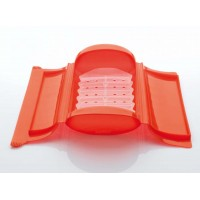 Red steam case + tray 1-2 people + apron Lékué