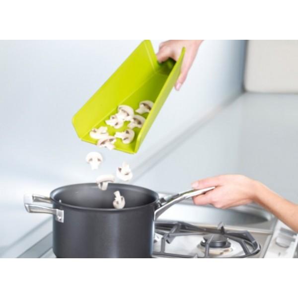 Tabla de cortar plegable chop2pot plus joseph verde menaje for Tablas de corte cocina