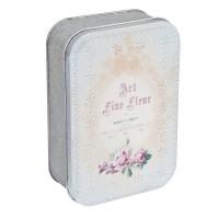 "Caja de metal vintage ""Art fine fleur"""