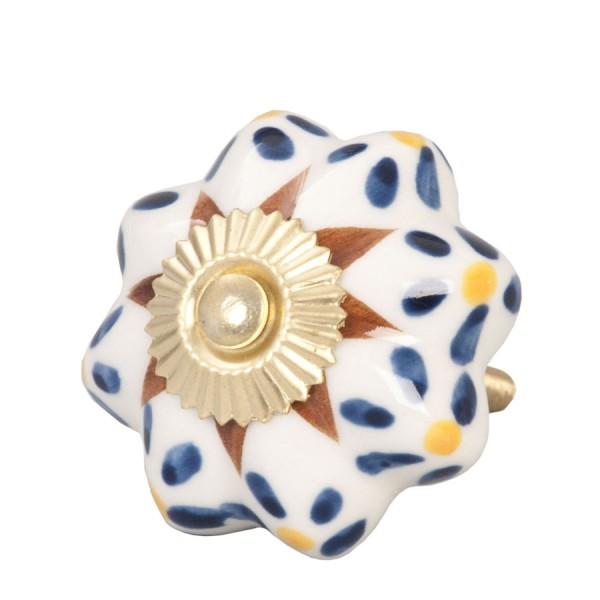 Tirador antiguo porcelana flores azules decoraci n accesorios - Tiradores de porcelana ...