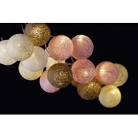 Guirnalda bolas de hilos 20 led tonos pastel