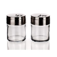 Set salero y pimentero cristal Basic 2x115 ml