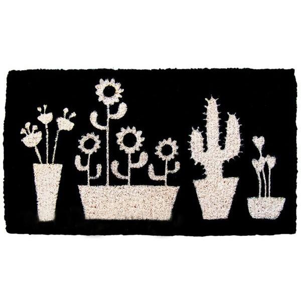 Felpudo negro cactus 70x40cm decoraci n entrada - Felpudo entrada casa ...