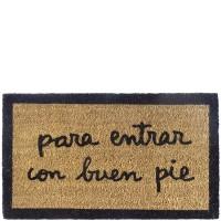 """Felpudo """"Para entrar con buen pie"""" 70x40 cm"""