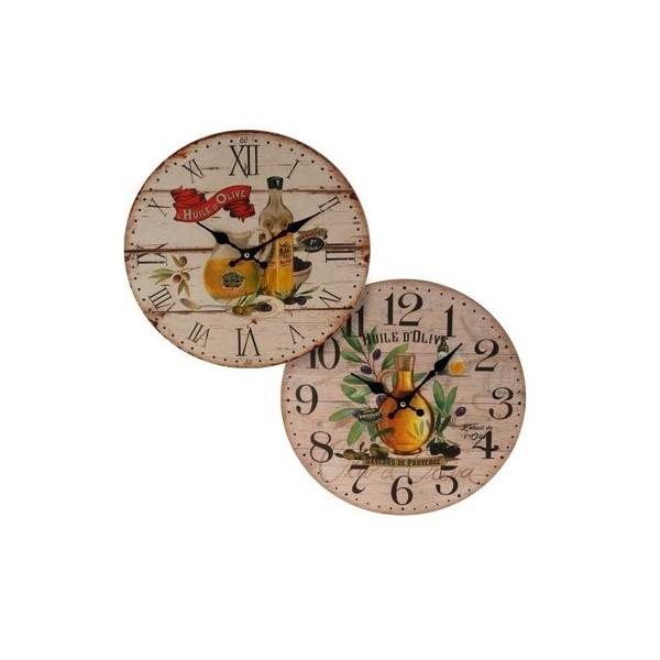 Reloj pared aceite oliva 2 dise os 34 cm menaje reloj - Reloj cocina diseno ...