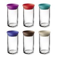 Tarro de cristal con tapa hermética varios colores 0,25 litros