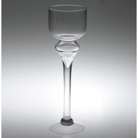 Candelabro cristal con pie 12xh40 cm