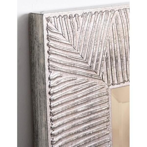 Espejo con soporte marco resina plateado 40x150cm 53x163 - Espejos con marco plateado ...