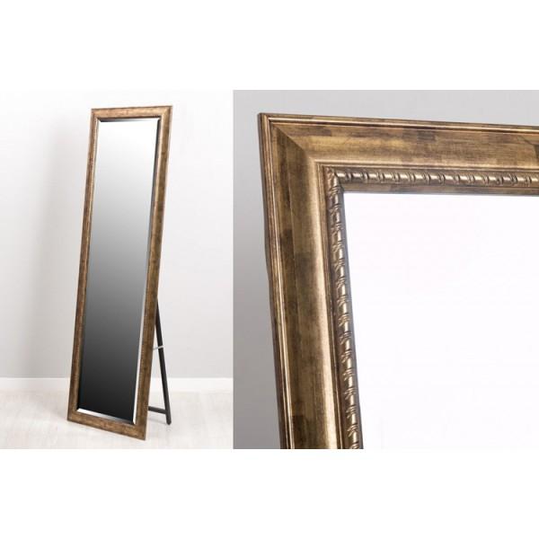 Espejo resina con soporte dorado 40x150 cm 58x168 cm - Espejos de resina ...