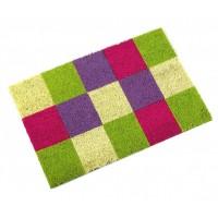 Felpudo coco cuadrados grandes de colores 40x60 cm