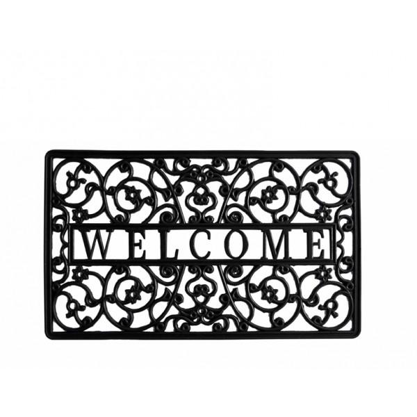 Felpudo goma welcome 45x75 cm decoraci n entrada - Felpudo entrada casa ...