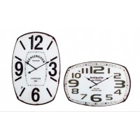 Reloj de pared cristal blanco números negros Antique 41x61cm