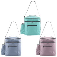 Bolsa nevera para playa isotérmica con bolsillos en 3 colores