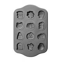 Molde acero antiadherente para galletas de Halloween 12 cavidades 44x28cm