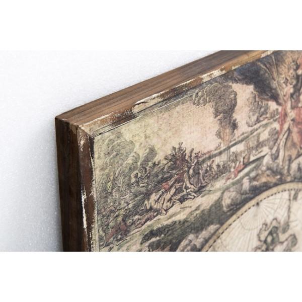 Cuadro madera mapa mundi 85x70cm decoraci n cuadros - Cortina bano mapamundi ...