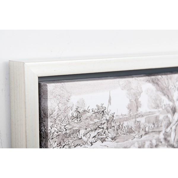 Cuadro lienzo mapa mundi gris con marco met lico 54x64cm - Cortina bano mapamundi ...