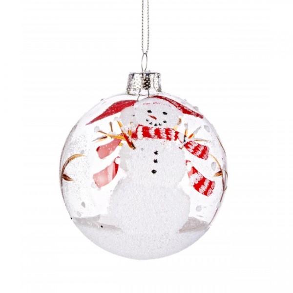 Bola rbol de navidad cristal transparente mu eco de nieve - Bola nieve navidad ...