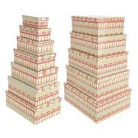 Caja cartón estampado navideña 35x27 cm