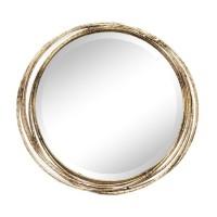 Espejo redondo marco metálico aros dorados 44cm