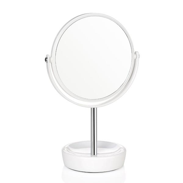 Espejo redondo con pie blanco x2 aumentos 16x29 5cm for Espejo redondo blanco