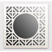 Espejo cuadrado resina champagne arabesco 39,5x39,5cm