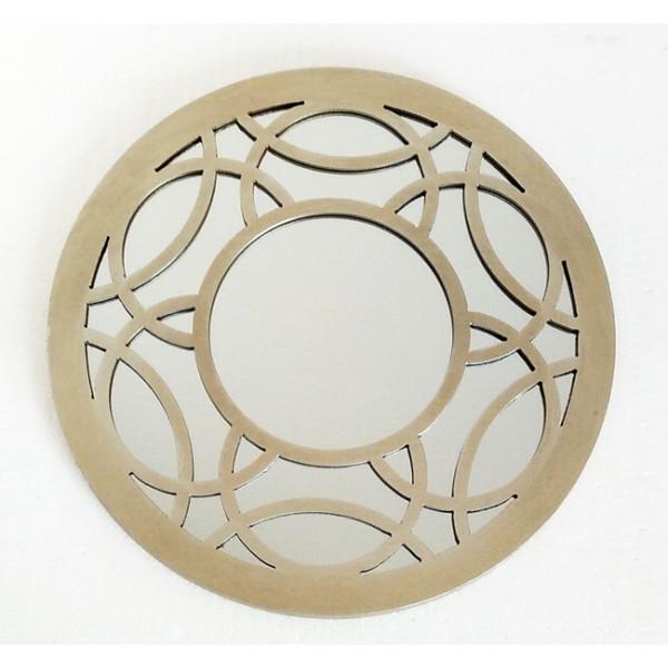 Espejo redondo marco resina champagne c rculos 40cm decoraci n for Espejo redondo grande